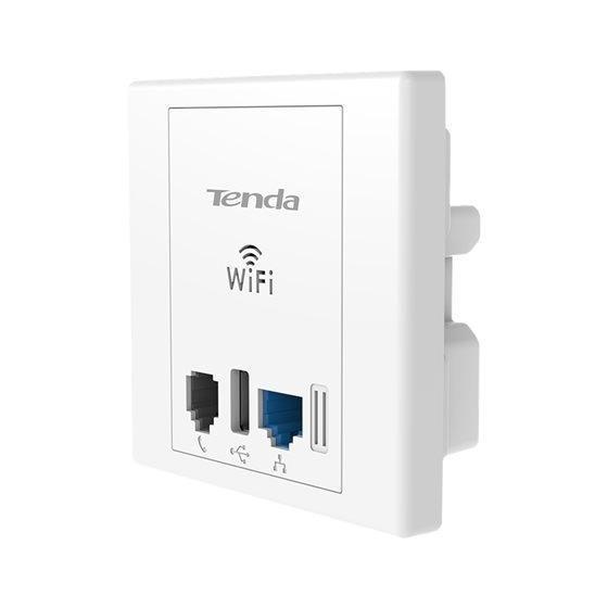 Wireless N300 Wall Plate Access Point con porta USB