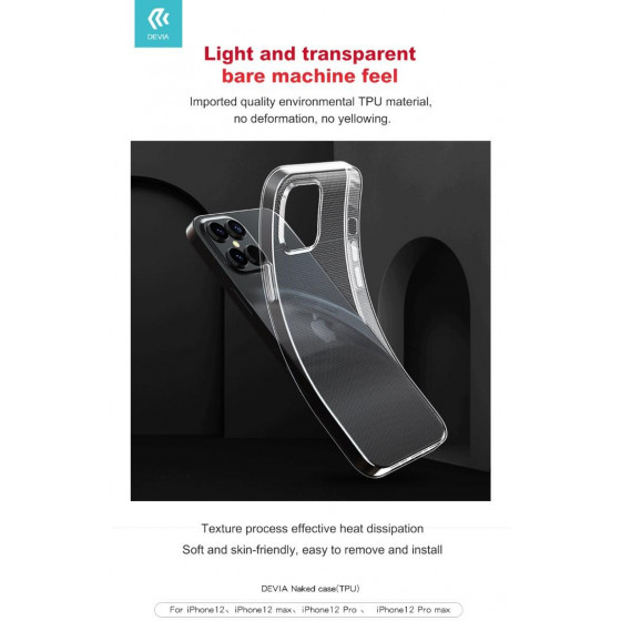 Cover protettiva trasparente morbida per iPhone 12 & 12 Pro