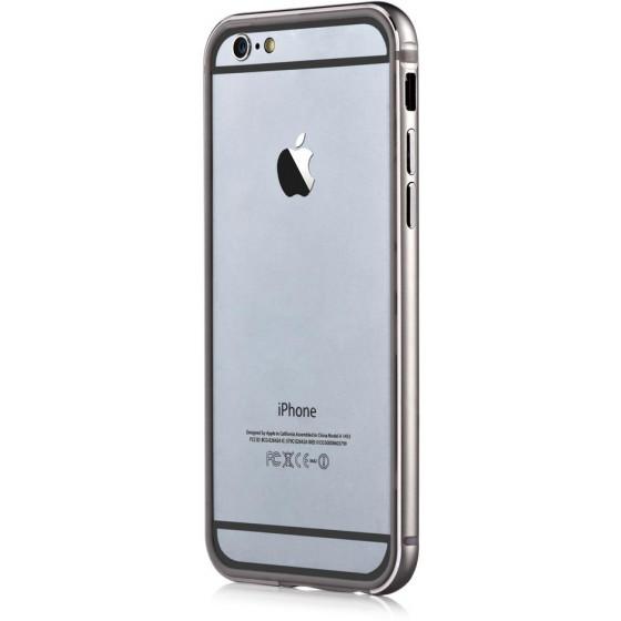 Cover Bumper Alluminio Per iPhone 6 e 6S Grigio