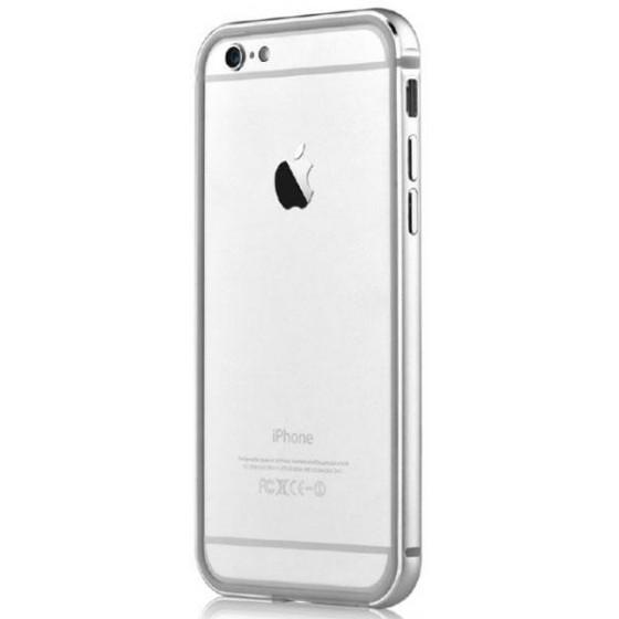 Cover Bumper Alluminio Per iPhone 6 e 6S Colore Argento