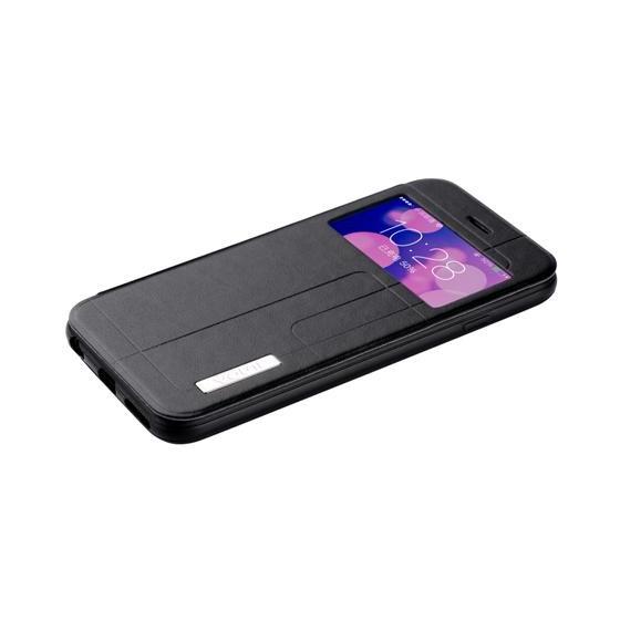 Cover for Iphone 6 Plus -Premium PU leather Black Plaid