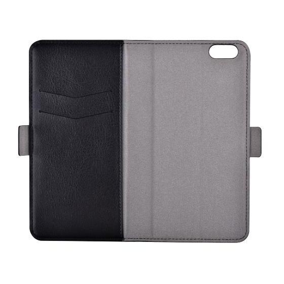 Custodia a Libro Portadoc in Pelle per iPhone 6/6S PLUS Nera