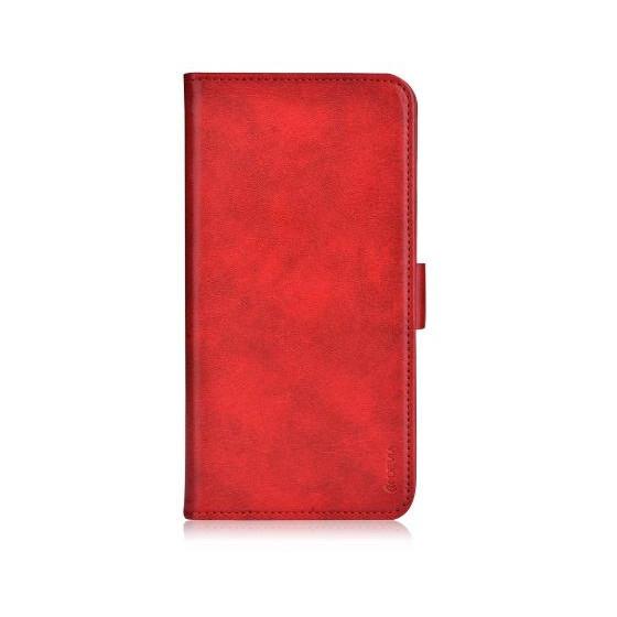 Custodia Libro Portadoc in Pelle per iPhone 6/6S PLUS Rossa