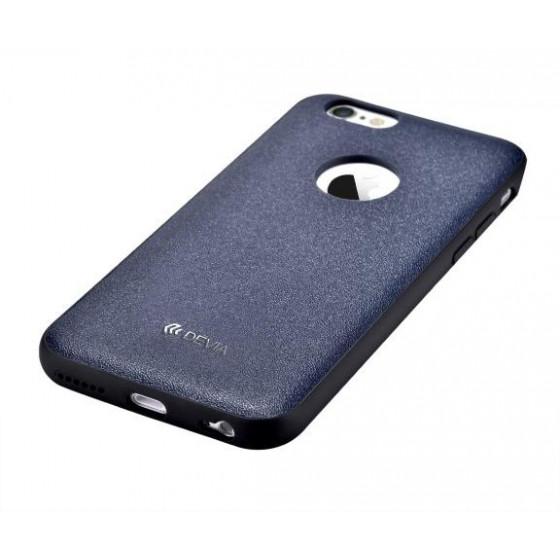 Cover in Vera Pelle iPhone 6/6S Plus Con Vista Logo RoyalBlu