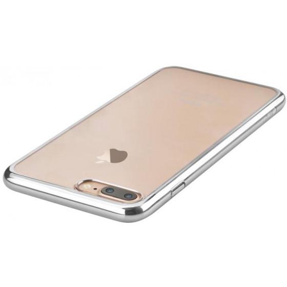 Cover Glimmer con Retro Flessibile per iPhone 7 & 8 Argento
