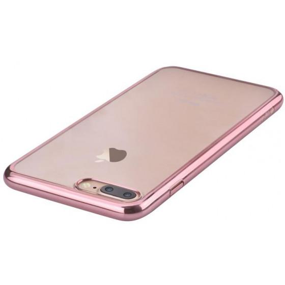 Cover Glimmer con Retro Flessibile iPhone 7 & 8 Rose Gold