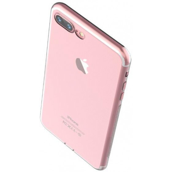 Cover in TPU Morbido e Flessibile iPhone 7 Plus Rose Gold