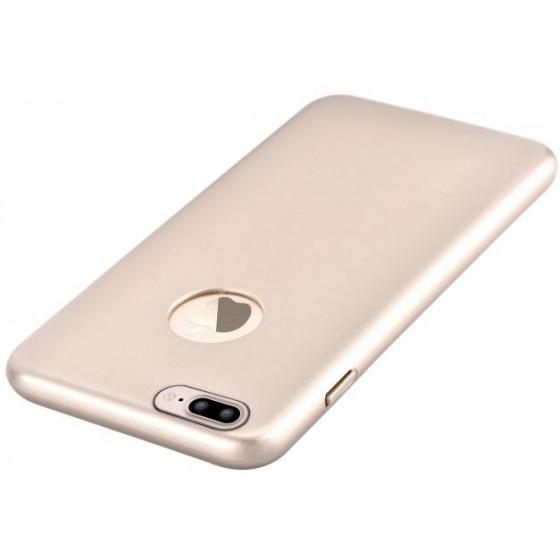 Cover CEO Microfibra Per iPhone 7 Plus Con Vista Logo Gold