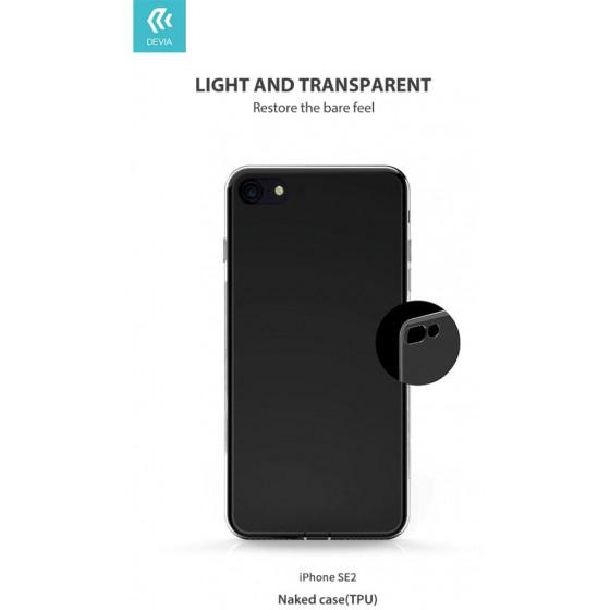 Cover in TPU morbido trasparente per iPhone SE2