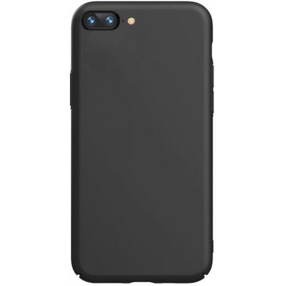 Cover in silicone con interno microfibra per iPhone SE2 Nera