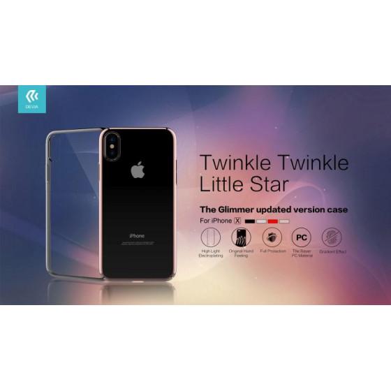 Cover Protezione Glimmer per iPhone X Silver
