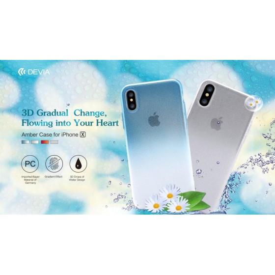 Cover Effetto Acqua in materiale atossico per iPhone X Tea