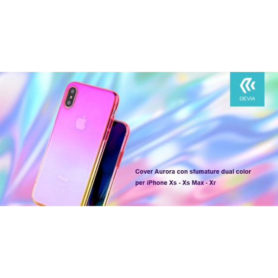 Cover Aurora dual color Porpora e Rosa per iPhone Xr 6.1