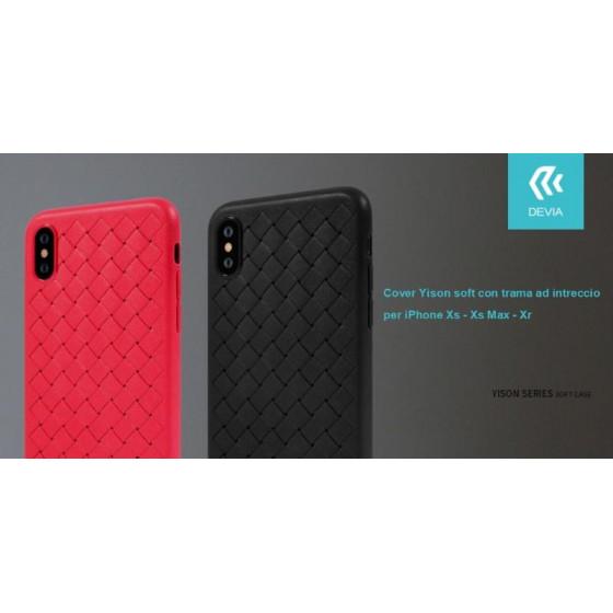 Cover Yison soft con trama ad intreccio per iPhone Xs Rossa