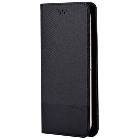 Custodia a Libro Universale per Smartphone 5 Pollici Nera