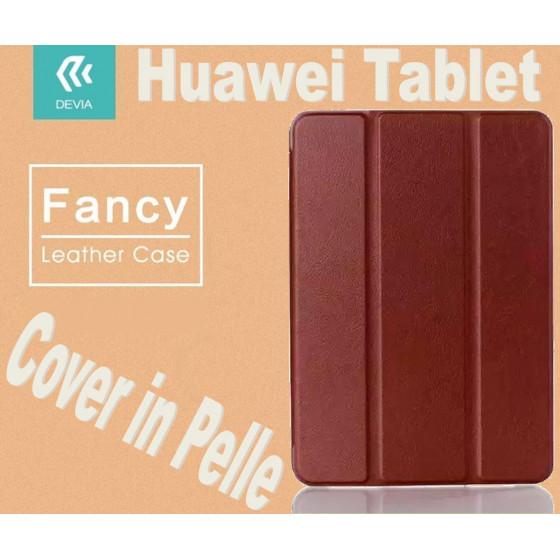 Custodia a Libro in Pelle Per Huawei M2 8