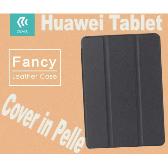 Custodia a Libro in Pelle Per Huawei 10 FHD Nera