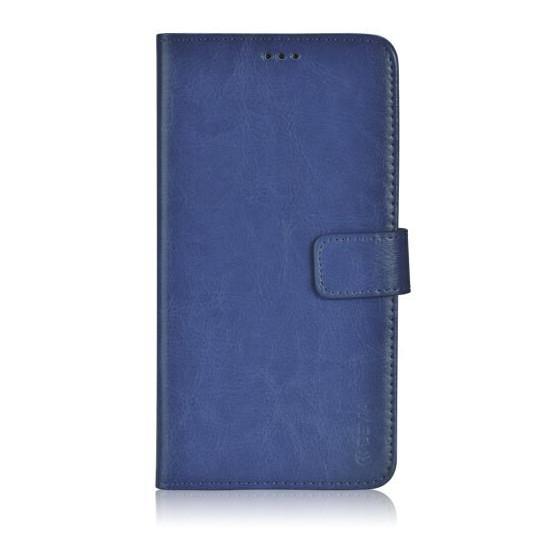 Custodia a Libro in Pelle Per Samsung Galaxy J1 Blu