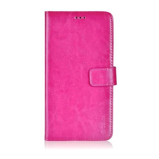 Custodia a Libro in Pelle Per Samsung Galaxy J1 Rossa