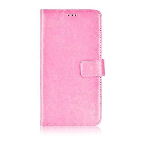 Custodia a Libro in Pelle Per Samsung Galaxy J1 Rosa