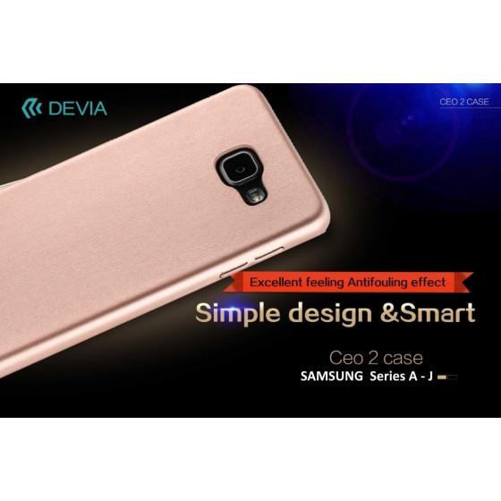 Cover C.E.O. Microfibra Per Samsung J3 PRO Nera