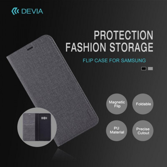 Cover a libro Flip Case per Samsung J7 2017 Nera