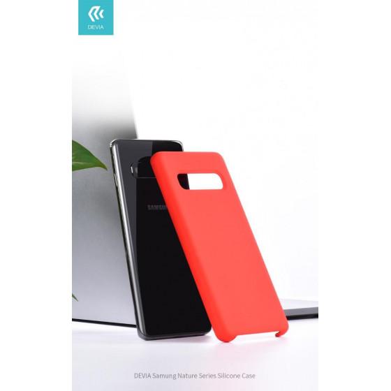 Cover Protezione per Samsung S10 in Silicone Morbido Nera