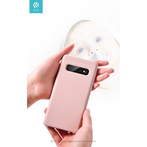 Cover Protezione per Samsung S10 in Silicone Morbido Rosa