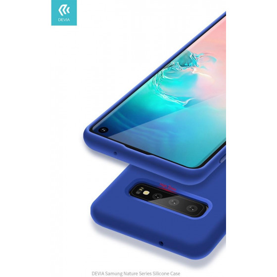 Cover Protezione per Samsung S10 in Silicone Morbido Blu