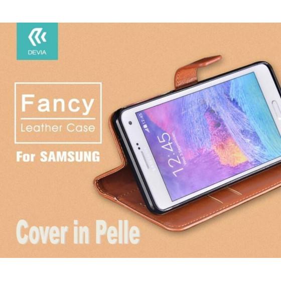 Custodia a Libro in Pelle Per Samsung Galaxy S6  Marrone