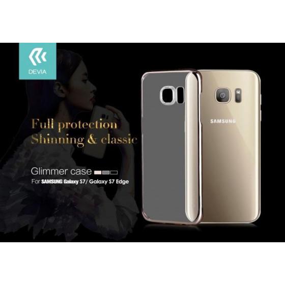 Cover Glimmer 0.6 mm per Samsung Galaxy S7 Oro
