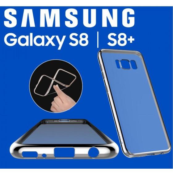 Cover Glitter Soft per Samsung S8 Plus Silver