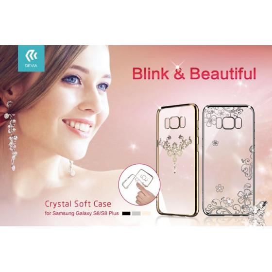 Cover Iris soft Crystals from Swarovski Samsung S8 Gun Black