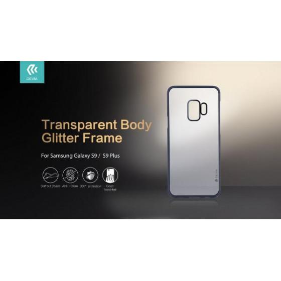 Cover Protezione Glitter Soft Samsung Galaxy S9 Plus Silver