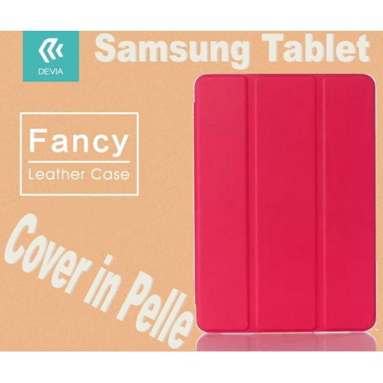 Custodia in pelle per Tablet Samsung TabS2 8 9.7 T815 Rossa