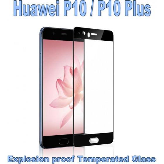 Pellicola Vetro Temperato Full per Huawei P10 Plus nera