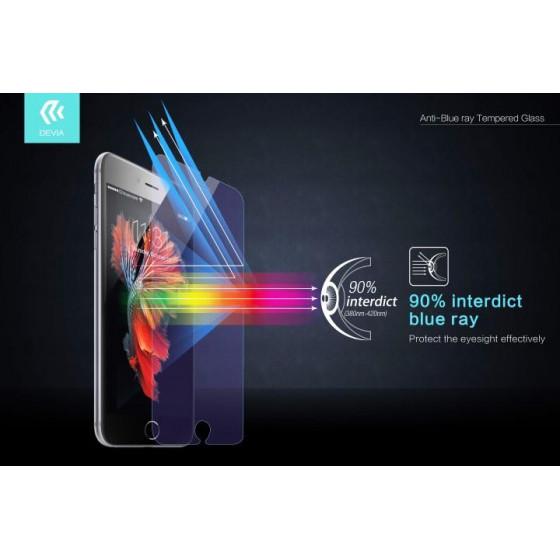 Pellicola in Vetro Temperato Anti Blu Ray iPhone 6/6S Plus