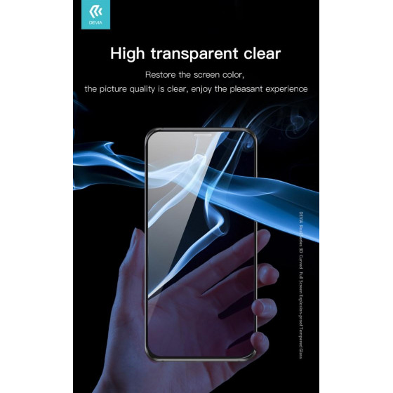 Pellicola in vetro temperato Full 3D per iPhone 11 Nera