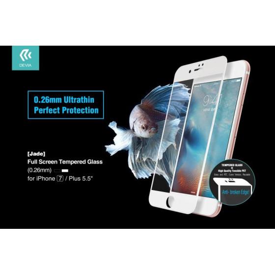 Vetro Temperato Full Screen 0.26 mm per iPhone 7 Bianca Jade