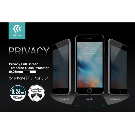 Pellicola Vetro temperato Full Privacy iPhone 7 Bianca