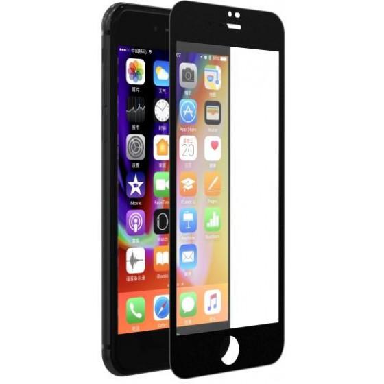 Pellicola Vetro temperato Full 0.18 mm per iPhone 7 / 8 Nera