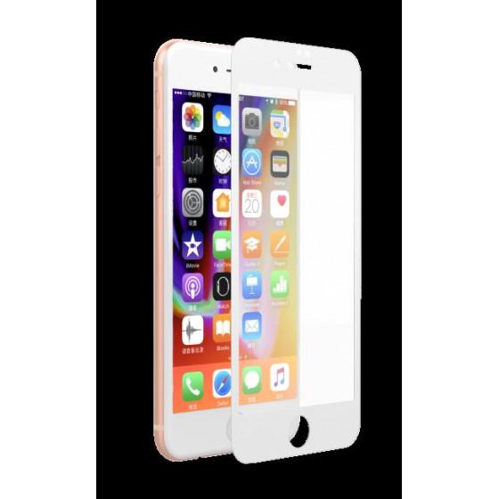 Pellicola Vetro temperato Full 0.18 mm iPhone 7 / 8 Bianca