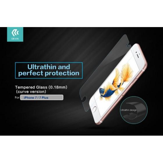 Pellicola vetro temperato 9H 0.18 mm per iPhone 7 e 8 Plus