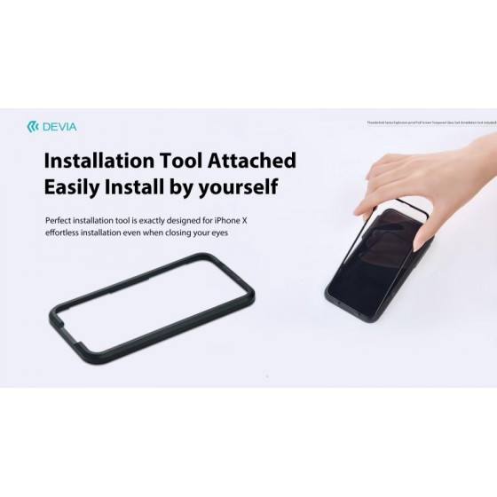 Pellicola vetro temperato Full e dima installazione iPhone X