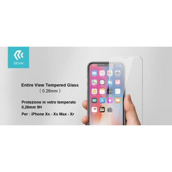 Pellicola protezione in vetro temperato per iPhone Xr 6.1