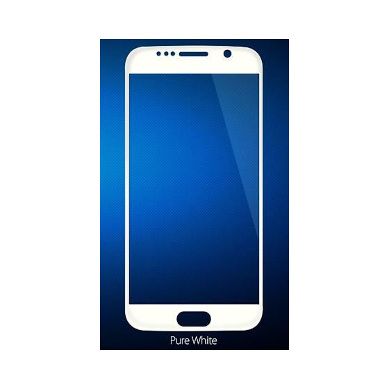 Copertura in Vetro Temperato 0.26 mm Per Samsung S6 Bianco