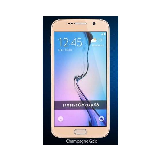Copertura in Vetro Temperato 0.26 mm Per Samsung S6 Oro