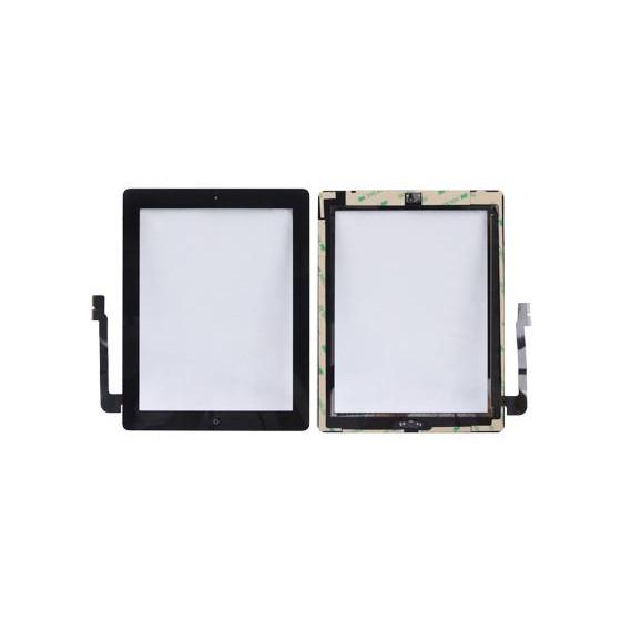 Vetro Touch Adesivi Pulsante per iPad 3 Nero AAA+