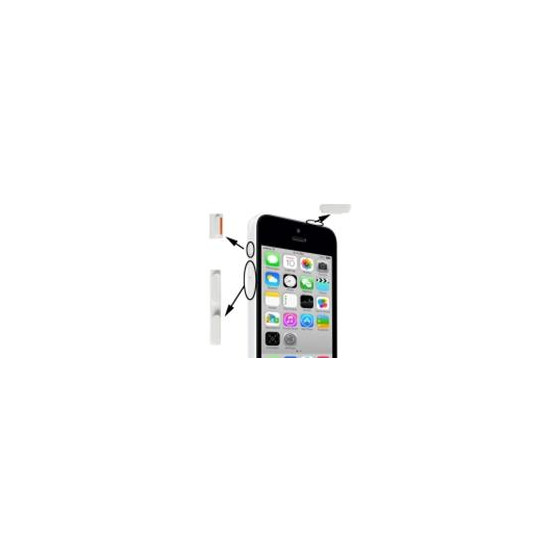 Set Pulsanti Power Mute Volume per iPhone 5C Bianco