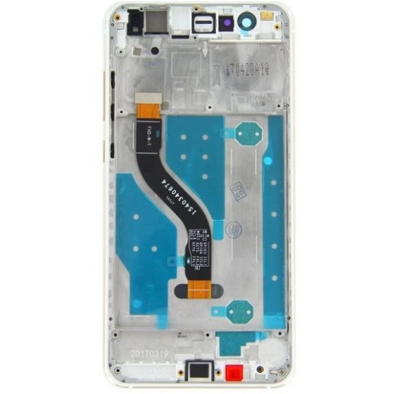 Huawei P10 Lite LCD Display Touch + Frame Originale Bianco